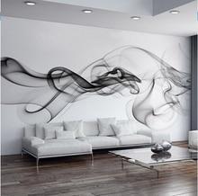Custom Photo Wallpaper Modern 3D Wall Mural Wallpaper Black White Smoke Fog Art Design Bedroom Office Living Room Wall Paper