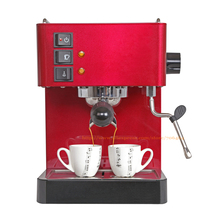 Red color 15 bar thermo-block high quality Espresso coffee maker boiler cappuccino coffee machine with milk steam(China)