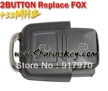 Free shipping   VW 2 Button Remote Replace Fox Horse Head Remote Control
