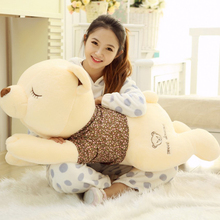 Kwaii Giant Plush Teddy Bears Bear Big 60cm Toy Stuffed Peluche Licorne Toys For Girls New Year Gifts Peluche Unicornio 50T0367(China)