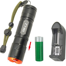 Led flashlight CREE L2 18650 26650 Torch light 2100Lumen Zoomable Torchlight flash lamp+1x18650 Rechargeable battery +charger