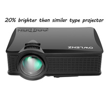 2017 Newest Unique 1500 Lumens SD50+ SD50 Plus Mini Portable LCD Projector HDMI / VGA Home Theater Beamer Meeting Projector