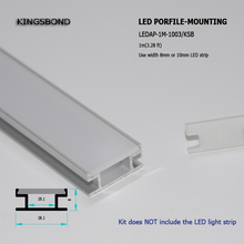 10pcs 1M 3mm thickness waterproof cover recessed aluminum profile for led strip for floor lighting wholesale(China)