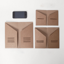 3Pcs/set Storage Kraft Paper Bag Traveler Notebook Diary Day Planner Business Cards Notes Pouch Planner Accessories Agenda