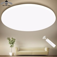 Ultra Thin LED 천장 LED Ceiling 등 조명 Fixture 현대 Lamp Living 룸 침실 주방 Surface 실장 (smd, smt Remote Control(China)