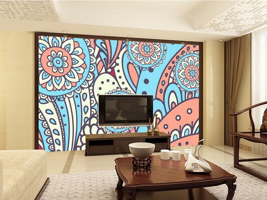Custom Traditional ethnic style embroidery pattern wallpaper ,living room tv sofa wall bedroom restaurant 3d mural wallpaper<br>