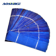Aoshike 50pcs Solar Panel 0.25W 0.5V 0.5A 76*19mm Polycrystalline Silicon Solar Panel Solar Cell DIY Charger Battery(China)