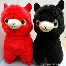 35-45cm Alpacasso Amuse Janpa Sheep Red Black Alpaca Plush Soft Doll Animal Stuffed Toy For Baby Kids Birthday Gifts