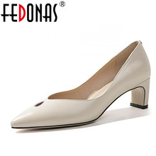 Buy FEDONAS 2018 Women Pumps Brand Genuine Leather Shoes Woman High Heels Sexy Pointed Toe Shallow Party Wedding Shoes Office Pumps for $45.76 in AliExpress store