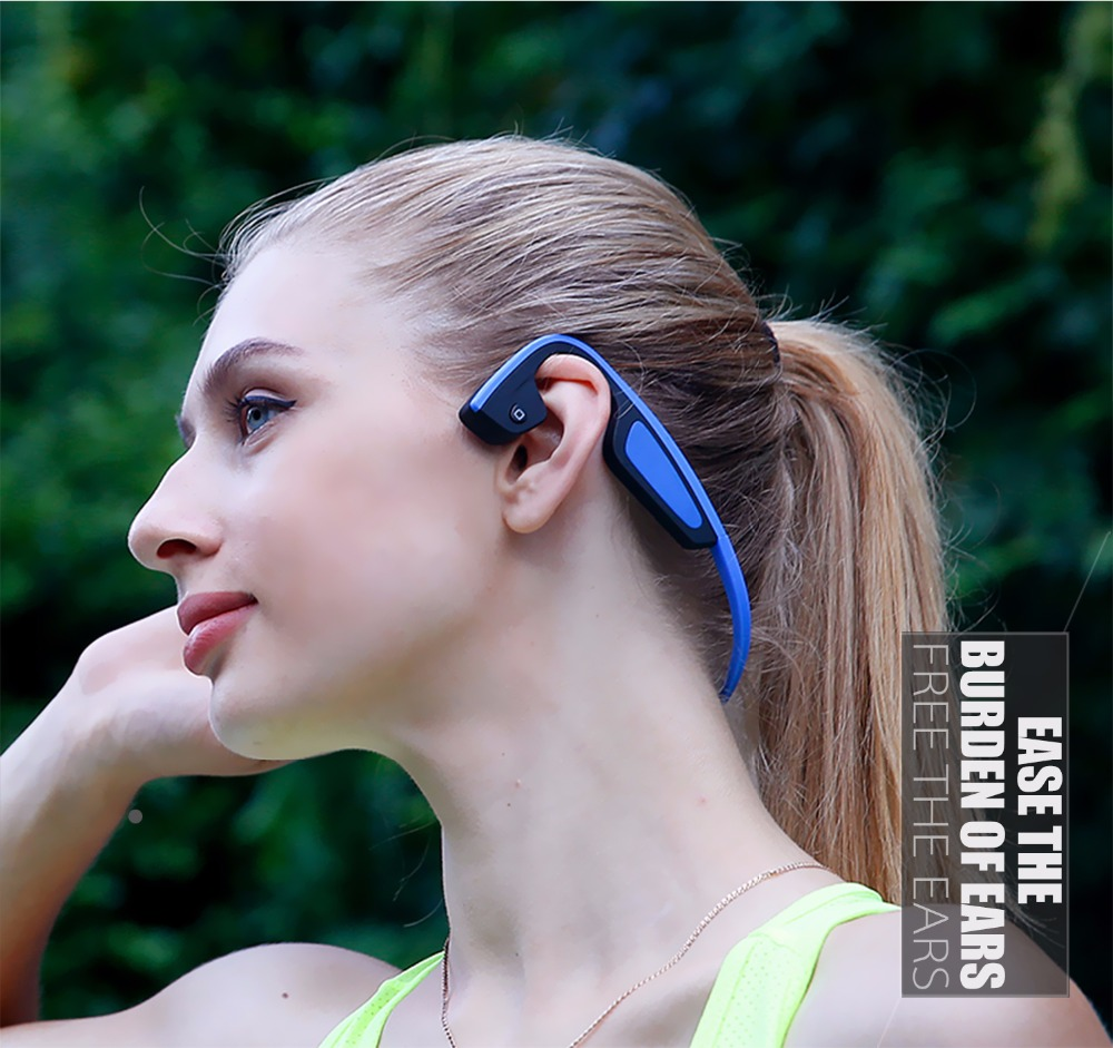 S.Wear Bluetooth Bone Conduction Headphones LF-19 Wireless Stereo Outdoor Sports Headset With Microphone NFC Earphones 3 Colors