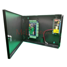 Intelligent Four door Access Control Panel + !2V Power Supply + Metal Box Tcp/ip Network L04 Door Security Access Control System