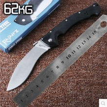 Hot Cold Steel 62KG Tactical Knife, D2 Blade Utility Folding Knife, EDC Gift Knives, Hunting Tools, Outdoor survival knife