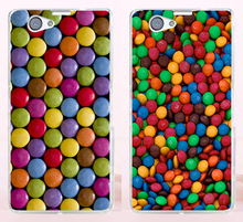 New Arrival Chocolate Candies Style Hard Phone Cases Covers For Sony Xperia Z1 Mini Z1 Compact Case Cover Shell