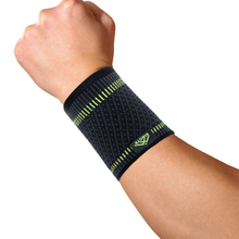 new style simple elasticity sports safety series green stripe wrist support ST2542(China)