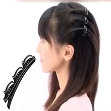 2015 New Women Black Double Hair Pin Clips Hair Clips Barrette Comb Hairpin Hair Disk Bump Hair Styling Tools 1Pcs/lot