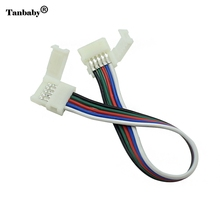 Tanbaby 1Pcs Solderless 5Pin 10mm RGBW Extend Cable Connector for LED RGBW Strip
