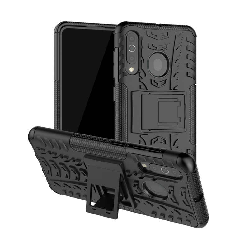 30pcs/lot Shockproof Tyre Hard Case For Samsung Galaxy A60 Removable Rugged Armor Case With Stand
