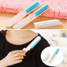 High Quality Travel Portable Washable Lint Sticky Roller Hair Dust Remover Clothes Foldaway(China)