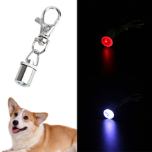 Aluminum pet Collar  Dog Pet Colorful Safety Flash LED Light pet Collar Tag 60mm length with 3 batteries