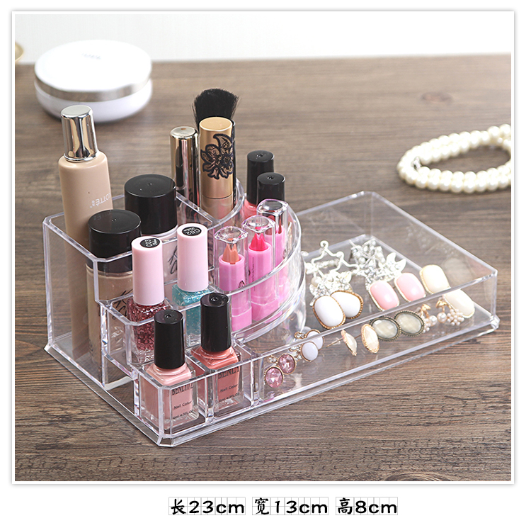 Organizador Hot Sale 2017 Acrylic Makeup Organizer Rangement Maquillage Crystal of Cosmetics Included In The of Home Storage (18)