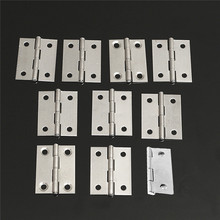 Durable New 10pcs Stainless Steel Butt Hinges For Cabinet Drawer Door 1.5 inch Length Widely Used For Door(China)