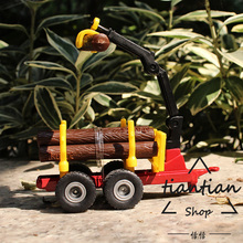 siku 1:64 kids toys Alloy model Wood trailer Can be used with tractors Wood can be removed Children like the gift