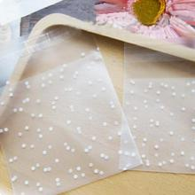 100pcs White Dots Transparent Frosted OPP Plastic Christmas Gift Bag Birthday Party Wedding Cookie Candy Packaging bag 4 Sizes(China)