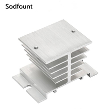 1pc Black Single Phase Solid State Relay SSR Aluminum Heat Sink Dissipation Radiator Newest,,Suitable for 10A-40A relay