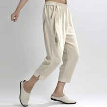 Men Pants - New Arrival Chinese Wind Thin Pants Nine Young Men's Casual Pants Pants Size Loose Cotton #1853238