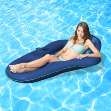2017 New Luxury Comfort Deck Chair Water Floating Raft Blue Adults Pool Float Outdoor Furniture Sofa Swimming Board Luchtmatras(China (Mainland))