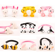 New Arrival styling tool cute animals Elastic Hair Bands accessories make you Beautiful used by women young girl and children