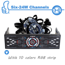 ALSEYE 6 channels computer fan controller with dual RGB strips (5 pieces) wholesale for agents (More quantity, more cheaper)