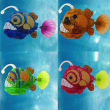 Aquarium Funny Swim Electronic fish Activated Battery Powered Toy Pet for Fishing Tank Decorating Fish Lantern fish H01(China)