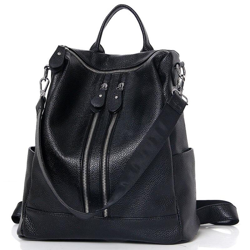 2017 New High Quality Brand Design Leather Backpacks for Women Bags Girl Travel Back Bag Shoulder Backpack Mochila Escolar FR196<br>