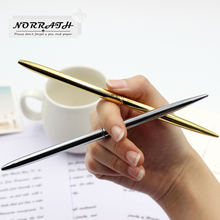 2Pcs/lot NORRATH Stationery Gold Silver Ballpoint Pen Luxury Pen Golden Ballpoint School Supplies Accessories Oily Refill 1.0