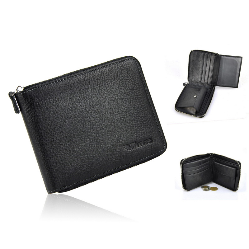 Men Genuine Real Cowhide Leather Classic Zip Around Short Wallet Credit Card Holder Coin Bag ID Photo Window Pocket Slim Purse<br><br>Aliexpress