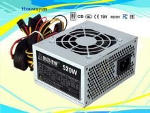 Computer Power Supply 520W 12v ATX intelligent mute electrical source 7 leaf fan(China)