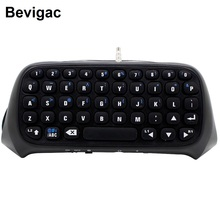 Bevigac Mini Wireless Bluetooth Keyboard Keypad Key Chatpad Chat Pad for Sony Play Station PS 4 PS4 Game Controller Accessories(China)
