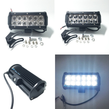 "2pcs 7"" inch 36W LED Work Light Lamp for Motorcycle Tractor Boat Off Road 4WD 4x4 Truck SUV ATV Spot Flood 12v 24v"