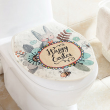 Cartoon suede toilet cover sets of toilet mats, European toilet seat pad thickening