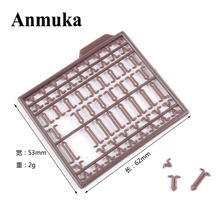 Anmuka 10Pcs/lot Durable Lightweight Hair Rig Boilie Stop Bait Carp Fishing Tackle Accessory Brown drill stops Boilie v stopper(China)