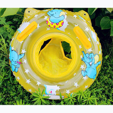 1PCS Lovely Soft Inflatable Children Swimming Ring Handles Baby Toddler Safety Aid Blue/Light Pink Float Seat Swim Ring