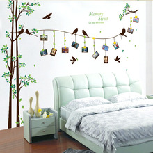 [Fundecor] 205*290cm/81*114in large photo tree Wall Stickers home decor living room bedroom 3d wall art decals diy family murals(China)