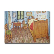 Hot sale Vincent's bedroom Van Gogh paintings fine art fridge magnet home decoration magnetic stickers gift Factory outlets