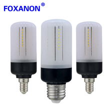 LED Lamp E27 E14 LED Bulb SMD 5736 AC220V 110V 20Led 30led 46 Led 81Leds 100Leds Lampadas Led Radiation Cover Candle Light