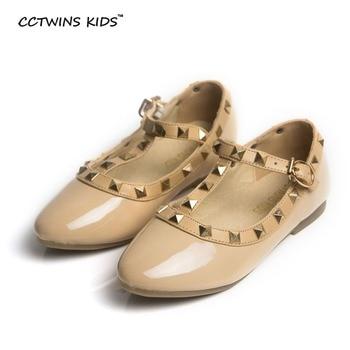 Cctwins crianças primavera meninas stud shoes crianças da marca para o bebê nu sandália sapato da criança verão flats preto branco sapato festa G358