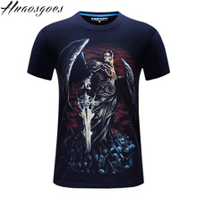 Free Shipping Huaosgoes Men T Shirt New camis 3d Magic sword Printed T Shirt Men S-6XL 100% Cotton Casual Brand T-Shirt tops