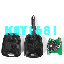 car key remote control key 433mhz with transponder chip 46chip for peugeot 206 with uncut keys(China)