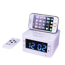 K7 Speaker Docking Station Bluetooth Alarm Clock 3.2 inch LCD Display Screen FM Radio Dock for iPhone
