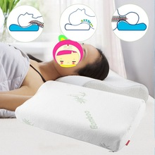 2016 30x50cm Orthopedic Neck Pillow Polyester Fiber Slow Rebound Memory Foam Pillow Cervical Health Care Home Sleep Travel(China)